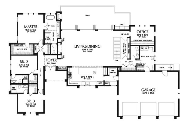 Modern Floor Plan - Main Floor Plan Plan #48-926
