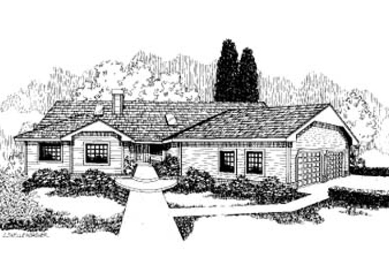 Traditional Exterior - Front Elevation Plan #60-163 - Houseplans.com