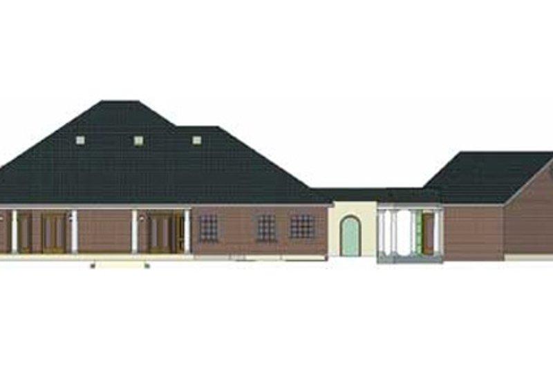 European Exterior - Rear Elevation Plan #44-124 - Houseplans.com