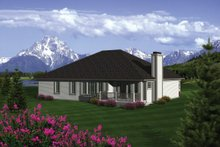 Dream House Plan - Traditional Exterior - Rear Elevation Plan #70-1080