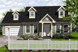 Colonial Exterior - Front Elevation Plan #50-262