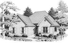 Home Plan - European Exterior - Front Elevation Plan #10-115