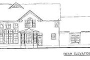 Traditional Style House Plan - 3 Beds 3 Baths 1835 Sq/Ft Plan #20-573 Exterior - Rear Elevation