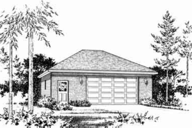 Traditional Exterior - Front Elevation Plan #22-450