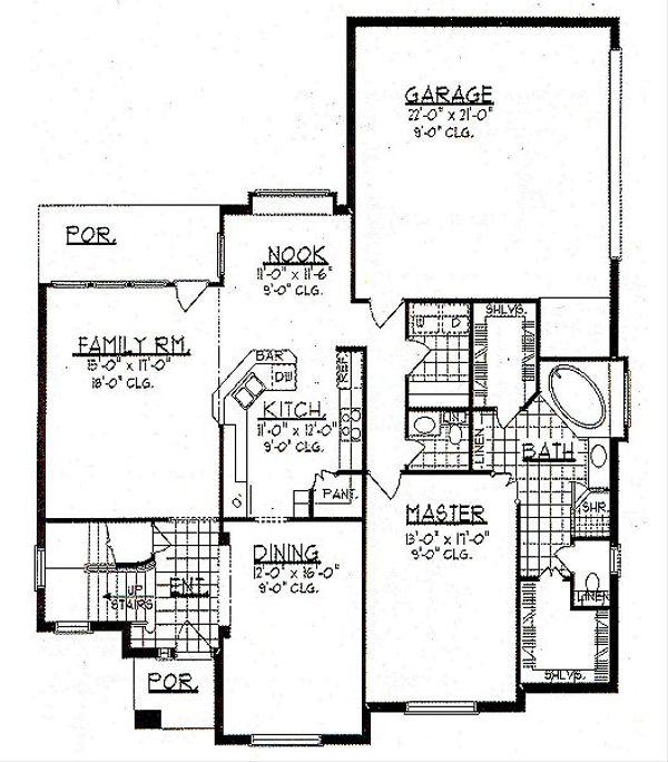 European Floor Plan - Main Floor Plan Plan #62-145