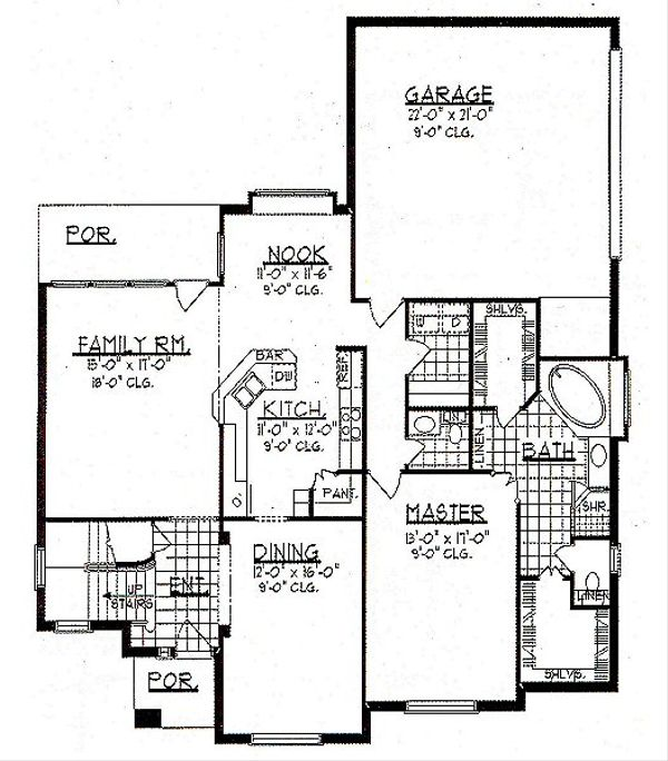 European Floor Plan - Main Floor Plan Plan #62-145