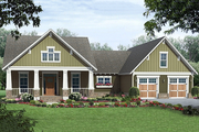 Craftsman Style House Plan - 3 Beds 2 Baths 1800 Sq/Ft Plan #21-345 Exterior - Front Elevation