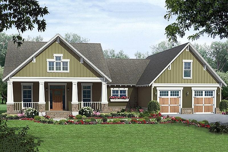 House Plan Design - Craftsman style home, elevation