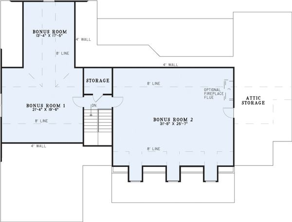 Country house plan with covered porch, floor plan
