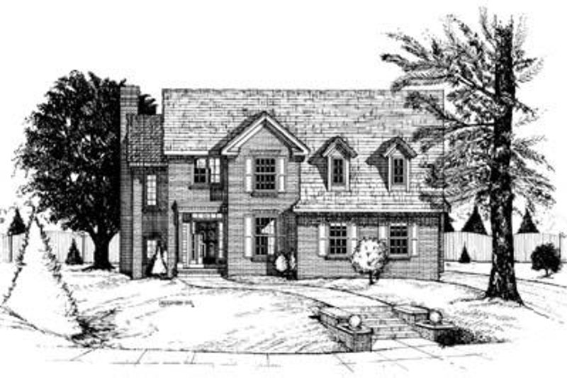 Colonial Exterior - Front Elevation Plan #20-872