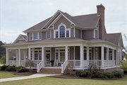 Country Style House Plan - 3 Beds 2.5 Baths 2112 Sq/Ft Plan #120-134 Exterior - Front Elevation