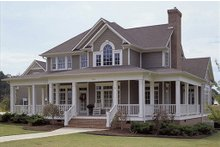 Dream House Plan - country farm house by David Wiggins huge wrap around porch