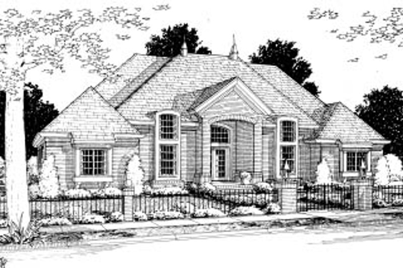 Traditional Exterior - Front Elevation Plan #20-364 - Houseplans.com