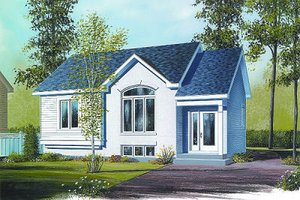 Architectural House Design - Cottage Exterior - Front Elevation Plan #23-706