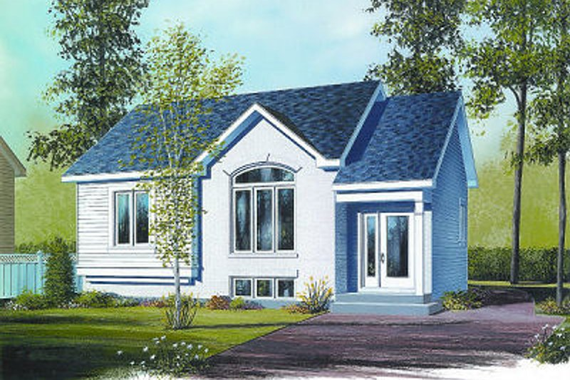 Cottage Exterior - Front Elevation Plan #23-706