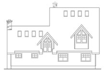Home Plan - Traditional Exterior - Rear Elevation Plan #124-207
