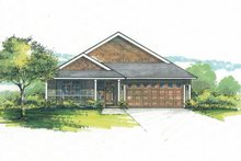 House Plan Design - Craftsman Exterior - Front Elevation Plan #53-599