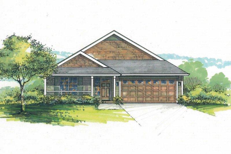 Home Plan - Craftsman Exterior - Front Elevation Plan #53-599