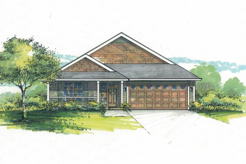 House Plan Design - Craftsman Exterior - Front Elevation Plan #53-599