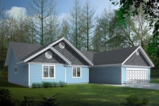 Bungalow Exterior - Front Elevation Plan #100-422
