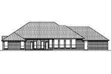 Dream House Plan - Traditional Exterior - Rear Elevation Plan #84-378