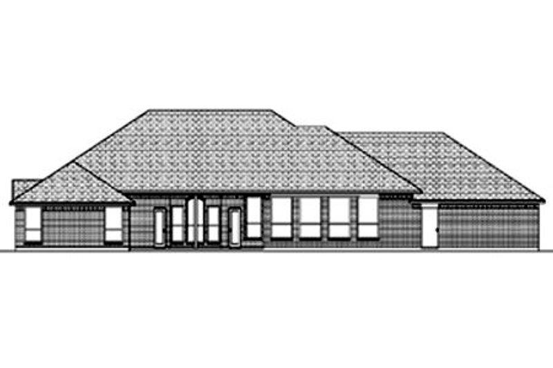 Traditional Exterior - Rear Elevation Plan #84-378 - Houseplans.com