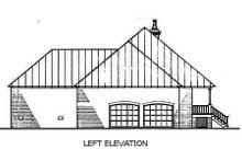 Home Plan Design - Southern Exterior - Other Elevation Plan #45-125