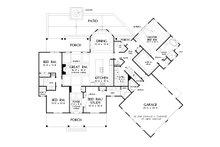 Farmhouse Floor Plan - Main Floor Plan Plan #929-1054