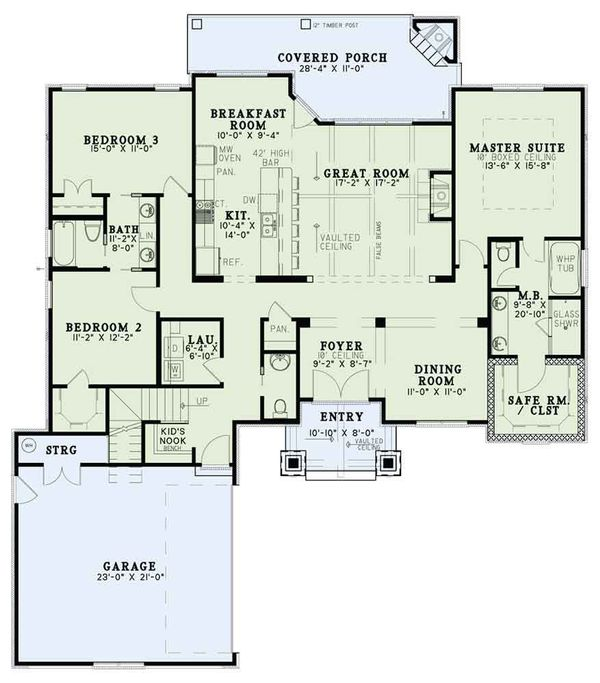 European Floor Plan - Main Floor Plan Plan #17-2574
