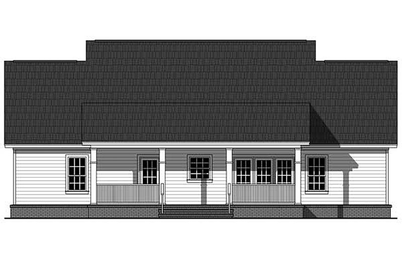 Southern Exterior - Rear Elevation Plan #21-354 - Houseplans.com