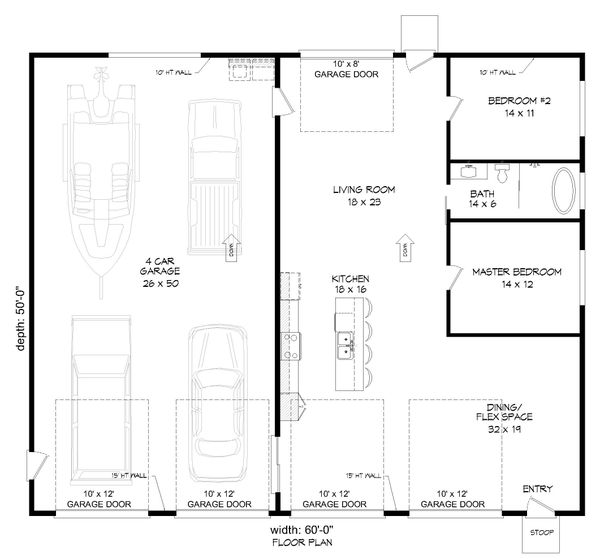 Modern Floor Plan - Main Floor Plan #932-358