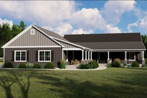 Country Exterior - Front Elevation Plan #1064-94