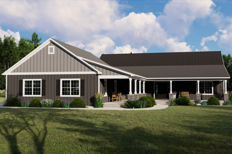 Architectural House Design - Country Exterior - Front Elevation Plan #1064-94