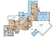 Mediterranean Style House Plan - 5 Beds 9 Baths 8160 Sq/Ft Plan #923-41 Floor Plan - Main Floor Plan