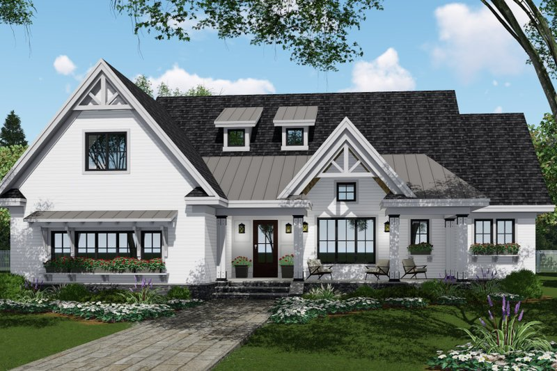 Farmhouse Style House Plan - 4 Beds 3.5 Baths 2751 Sq/Ft Plan #51-1140