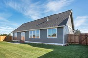 Craftsman Style House Plan - 3 Beds 2 Baths 1702 Sq/Ft Plan #1070-24 Exterior - Rear Elevation