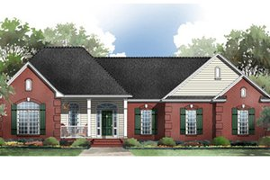 Traditional Exterior - Front Elevation Plan #21-180