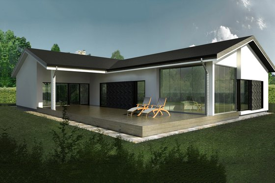 Ranch Exterior - Front Elevation Plan #906-1