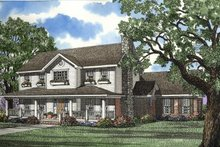 House Plan Design - Country Exterior - Front Elevation Plan #17-296