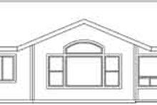 Ranch Exterior - Rear Elevation Plan #124-469