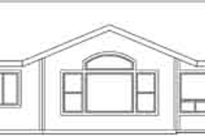 Ranch Exterior - Rear Elevation Plan #124-469 - Houseplans.com