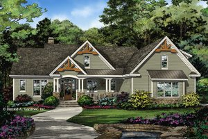 Ranch Exterior - Front Elevation Plan #929-1024