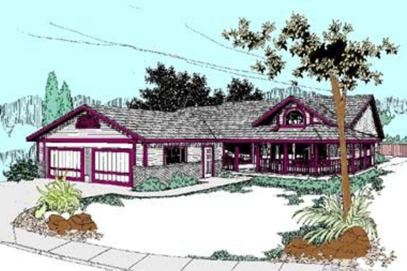 Ranch Exterior - Front Elevation Plan #60-418