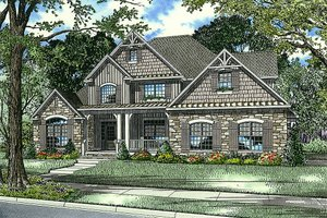 Craftsman Exterior - Front Elevation Plan #17-2531