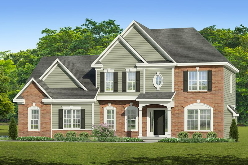 Colonial Exterior - Front Elevation Plan #1010-208