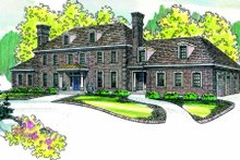 Traditional Exterior - Front Elevation Plan #124-463