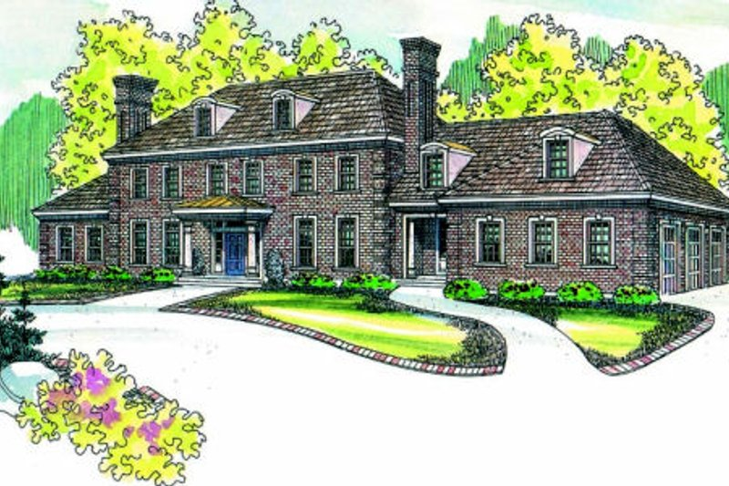 Dream House Plan - Traditional Exterior - Front Elevation Plan #124-463