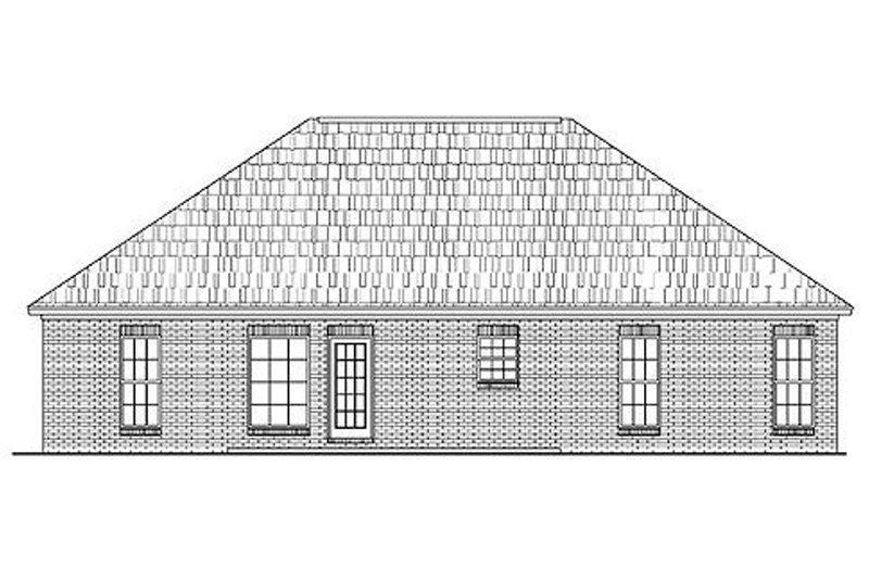 Traditional Exterior - Rear Elevation Plan #430-7 - Houseplans.com