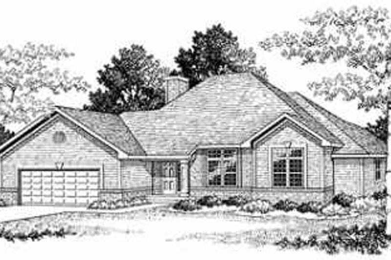 Traditional Exterior - Front Elevation Plan #70-335