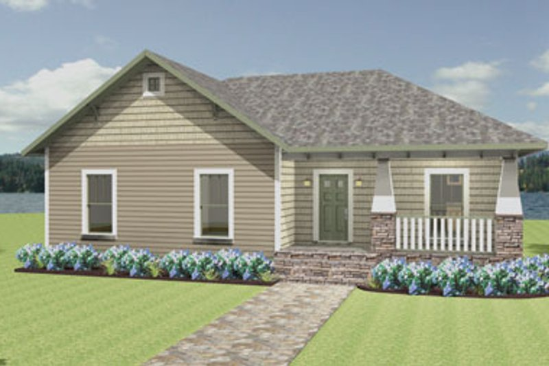 Craftsman Style House Plan - 4 Beds 2 Baths 1541 Sq/Ft Plan #44-180